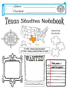 Texas Notebook Cover