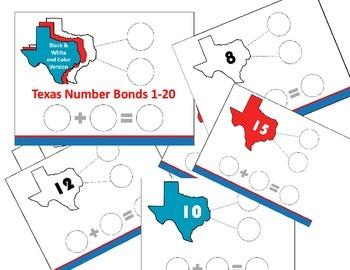 Texas Number Bonds 1-20; Sums to 20