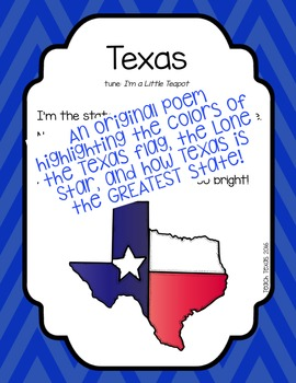 Texas - Original Poem - Poetry Notebook & Anchor Station Activities