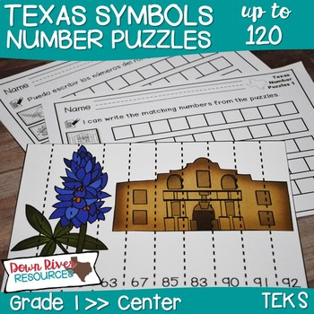 Texas Our Texas: First Grade Number Puzzles up to 120 (Eng