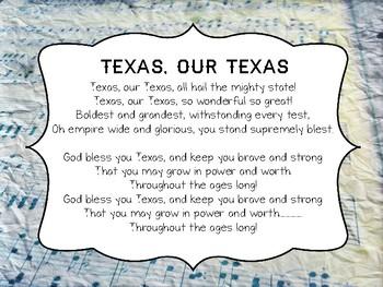 Texas Our Texas LYRICS ONLY - FREE