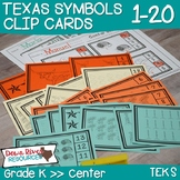 Texas Our Texas Math Center: Kindergarten Clip Cards 1-20 (English and Spanish)
