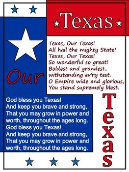 Texas, Our Texas ~ Poster