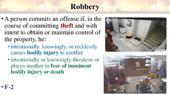 Texas Penal Code Offenses Against Property Notes