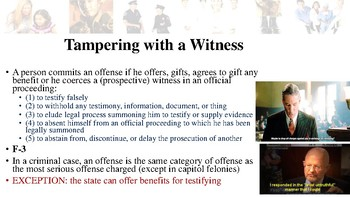 Texas Penal Code Offenses Against Public Administration Notes