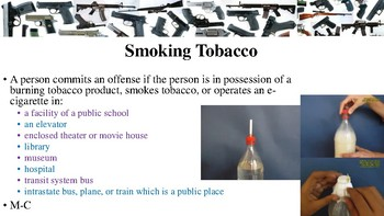 Texas Penal Code Offenses Against Public Health, Safety & Morals Notes