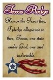 "Texas Pledge - Americana Style - 12""x18"""