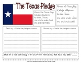 Texas Pledge - Handwriting/Cursive Practice