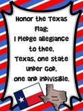 Texas Pledge Poster