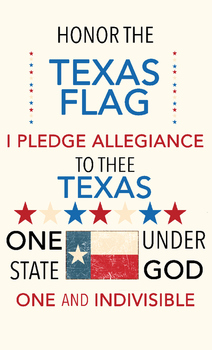 picture regarding Texas Flag Printable known as Texas Pledge of Allegiance