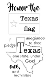Texas Pledge of Allegiance Poster