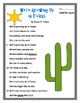 Texas Poems- 2 poems and 2 quizzes