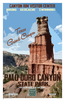 Texas Poster Set - WPA State Parks and Geology Poster Set