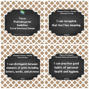"Texas Pre-K 2016 ""I Can"" Statements: Upcycled Kraft Paper, Chalk board"