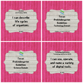 "Texas Pre-K 2016 ""I Can"" Statements: Upcycled Pink Wood &"