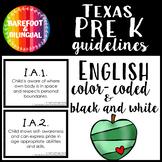 Pre K Guideline Cards   Texas   PreK