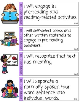 Texas Pre-K Guidelines- Emergent Literacy- Reading