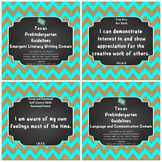 "*Updated* Texas Pre-K ""I Can"" Statements Bundle: Burlap, T"