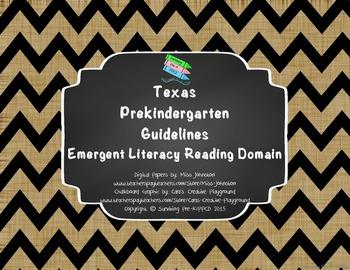 "*Updated* Texas Pre-K ""I Can"" Statements: Burlap, Chalkboard & Black Chevron"