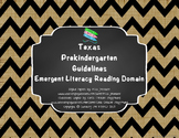 "*Updated* Texas Pre-K ""I Can"" Statements: Burlap, Chalkboa"