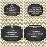 "*Updated* Texas Pre-K ""I Can"" Statements: Burlap, Chalkboa"