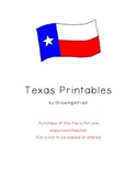 Texas Printables for Pre-K/Kindergarten