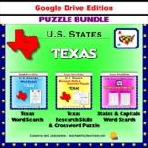 Texas Puzzle BUNDLE - Word Search & Crossword Activities - U.S. States - Google