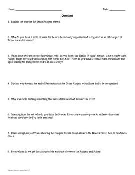 Texas Rangers Primary Source Analysis