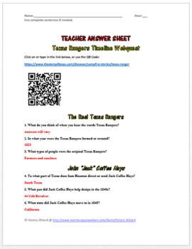 Texas Rangers Timeline Webquest
