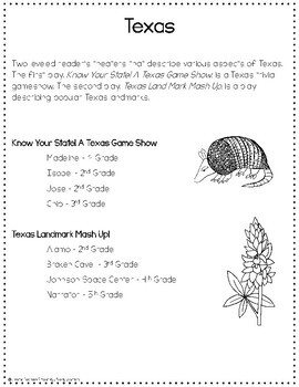 Texas Readers Theaters {Leveled}