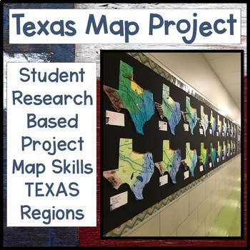 Regions Of Texas Map 4th Grade.Texas Regions Aligned Student Research Based Project