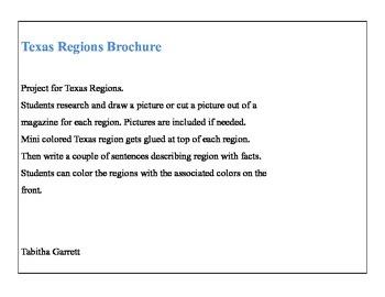 Texas Regions Brochure