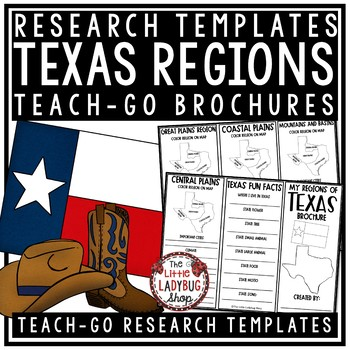 Regions of Texas Activity & Texas Regions [Texas History A