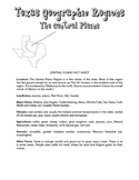 Texas Regions (Fact Sheets, Test & Answer Key)