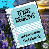 Texas Regions Interactive Notebook Activities
