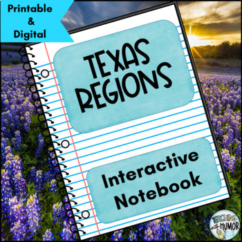 Texas Regions Interactive Notebook Activities - Distance learning options!
