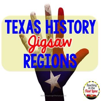 Texas Regions Jigsaw Activity