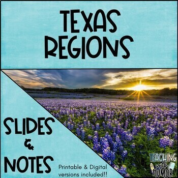 Texas Regions PowerPoint & Notes