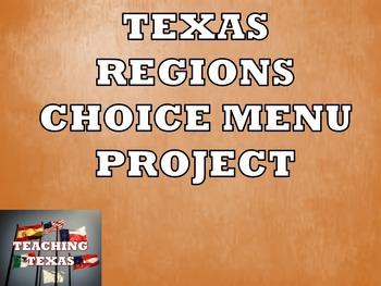 Texas Regions Choice Menu Project