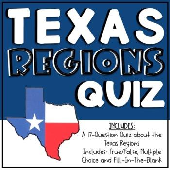 Texas Regions Quiz