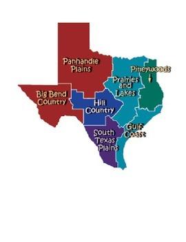 Texas Regions Salt Dough Map