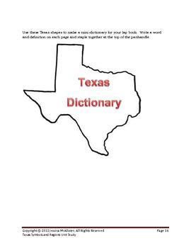 Texas Regions and Symbols