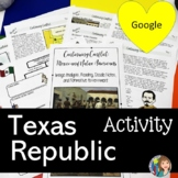 Texas Republic Key Events with Google Slides™ and Doodle Notes™
