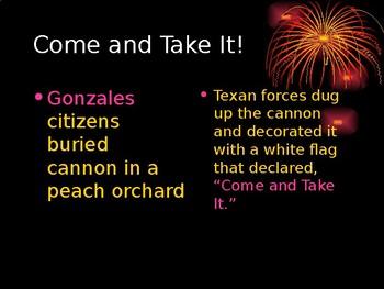 Texas Revolution Begins