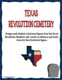 Texas Revolution Cemetery Historical Figure Activity