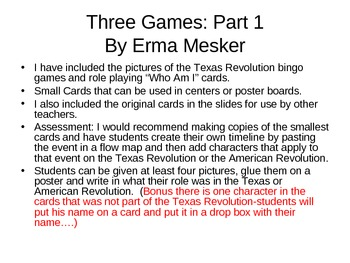 Texas Revolution Character/Event Role Play Part 1