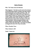 Texas Revolution-Early Battles Readings and Task Cards for