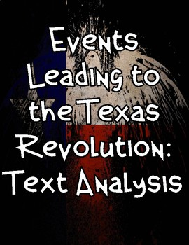 Texas Revolution: Events Leading Up to...