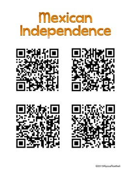 Texas Revolution Introduction and Research Resources with QR Codes Freebie