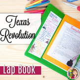 Texas Revolution Lap Book and Content Readings Complete Unit Lesson